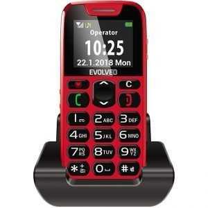 Телефон за възрастни EVOLVEO EasyPhone red