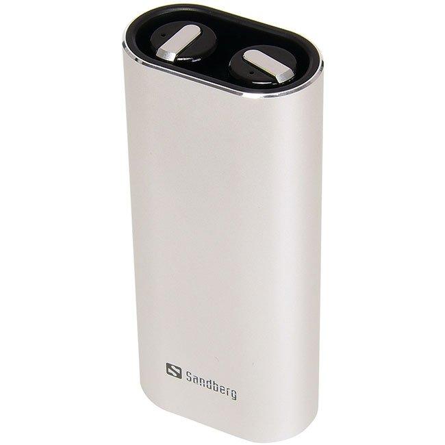 Безжични слушалки Sandberg Bluetooth Earbuds + Powerbank