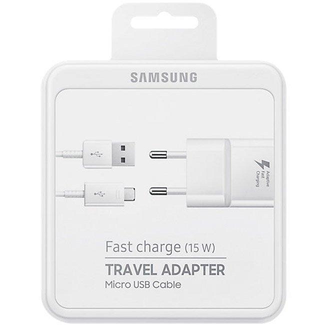 Зарядно Samsung Fast Charge 15W microUSB