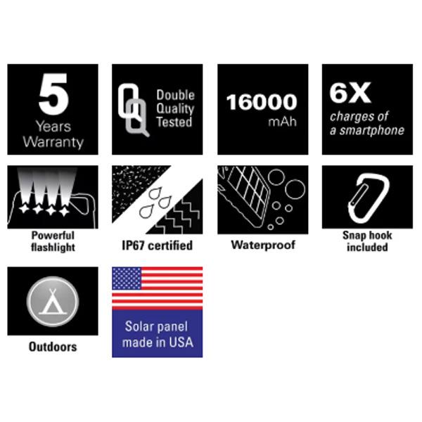 Outdoor Solar Powerbank 16000